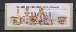Vignette Journées Européennes Du Patrimoine Aix En Provence 2011 0.60 € - 2010-... Vignettes Illustrées