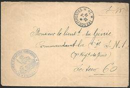 CM 88  Correspondance Militaire 20-05-18 Cachet Trésor Et Postes Simple Cercle N°(SP)74 19ème Division D'Infanterie - Marcofilie (Brieven)