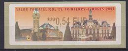 Vignette Salon Philatélique De Printemps Limoges 2007 (la Gare) 0.54 € - 1999-2009 Vignettes Illustrées