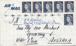AUSTRALIEN - 6 Fach Frankierung Auf Brief - Luftpost