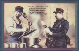 Bloc Gommé Neuf Facteur Et Cuisinier, Les Deux Amis Du Soldat, Phil@poste Sans Valeur Faciale - Blocs & Feuillets