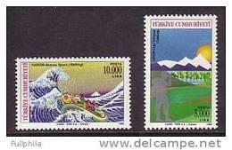 1994 TURKEY TOURISM - TREKKING & RAFTING MNH ** - Rafting