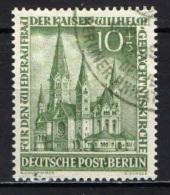 BERLINO - 1953 - RICOSTRUZIONE DELLA CHIESA ERETTA A RICORDO DELL'IMPERATORE GUGLIELMO - USATO - [5] Berlin