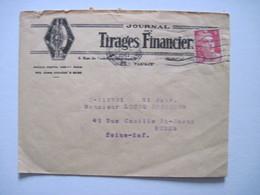 1947 Journal Des TIRAGES FINANCIERS  PARIS IXè - Marcophilie (Lettres)