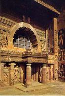 Ajanta - Facede And Courtyard Of Cave - Formato Grande Non Viaggiata – E 3 - India