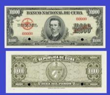 CUBA 10 000 PESOS 1960   -- Copy - Copy- Replica - REPRODUCTIONS - Cuba