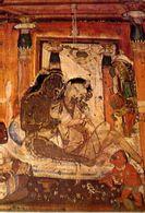 Ajanta - Two Lovers - Painting In The Veranda Of Cave - Formato Grande Non Viaggiata – E 3 - India