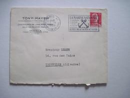 1956 TONY - MAYER  PARIS XXè Flamme LA MARINE NATIONALE LE PLUS BEAU METIER DU MONDE - Marcophilie (Lettres)