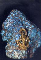 Bombay - Prince Of Wales Museum - Avalokitesvara - Bronze Set In A Fragment Of Turquoise - Formato Grande Non Viaggiata - India
