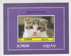 Cats Ajman **, Imperforated Set Of 8 - Hauskatzen