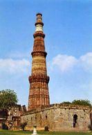 Delhi - The Qutb Minar - Begun In 1199 - Formato Grande Non Viaggiata - E 3 - India