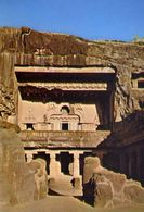 Ellora - General View Of The Cave - Formato Grande Non Viaggiata – E 3 - India