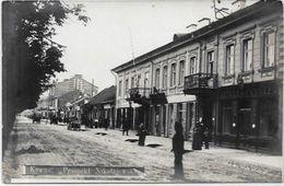 CPA Lituanie Lithuanie Lituania Non Circulé Kaunas Carte Photo Commerces Kowno - Lithuania