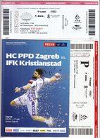 Croatia Zagreb 2018 / Arena / Handball / HC PPD Zagreb - IFK Kristianstad, Sweden / Entry Ticket + Game Brochure - Match Tickets