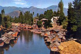 Kashmir - Srinagar - Boats On A Canal - Formato Grande Non Viaggiata – E 3 - India