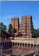 Madurai - Minakshi Temple - Two Gopuras - Formato Grande Non Viaggiata – E 3 - India