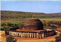 Sanchi - General View Of The Stupa - Formato Grande Non Iaggiata - E 3 - India