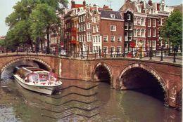 Amsterdam - The Keizersgracht - Reguliersgracht At The Seven Bridges - Formato Grande Viaggiata – E 3 - Cartoline