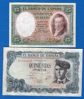 Espagne  4  Billets - [ 2] 1931-1936 : Republic