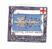 Vignette Militaire - Croix Rouge - Service D'état Major - Cruz Roja