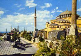 Istanbul - Saint Sophia And Blue - Sultan Ahmer - Mosque - Formato Grande Viaggiata – E 3 - Cartoline