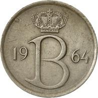 Monnaie, Belgique, 25 Centimes, 1964, Bruxelles, TTB, Copper-nickel, KM:154.1 - 02. 25 Centimes