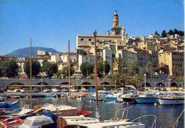 Menton - Le Port Et La Vielle Ville - Formato Grande Viaggiata Mancante Di Affrancatura – E 3 - Cartoline