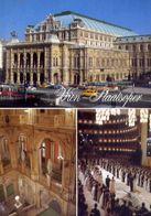 Wien - The Opera House - Formato Grande Viaggiata – E 3 - Cartoline