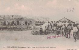 MAROC - BAB-MERZOUKA - ADMINISTRATION MILITAIRE - 11 NOVEMBRE 1915 - GRIFFE AMBULANCE N°1. - Briefe U. Dokumente