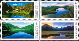 2018 Taiwan Alpine Lake Stamps (III) Mount Rock Geology Natural - Climate & Meteorology