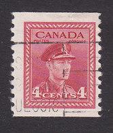 Canada, Scott #281, Used, George VI, Issued 1948 - 1937-1952 Règne De George VI