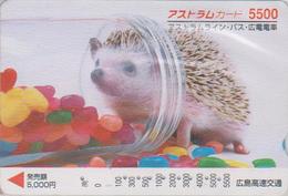 Carte Prépayée Japon - Animal - HERISSON - HEDGEHOG - IGEL - Japan Prepaid Bus Card - FR 49 - Phonecards