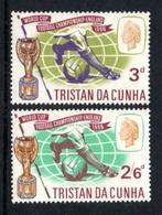 TRISTAN DA CUNHA 1966 World Cup Football Championship: Set Of 2 Stamps UM/MNH - Tristan Da Cunha