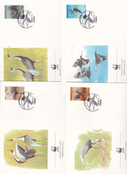 World Wide Fund For Nature 1988 Korea.Birds, Set 4 Official First Day Covers - FDC