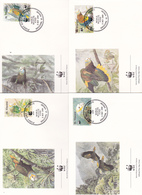World Wide Fund For Nature 1989 St Vincent, Set 4 Official First Day Covers - FDC