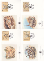 World Wide Fund For Nature 1989 Yemen ,Cats, Set 4 Official First Day Covers - FDC