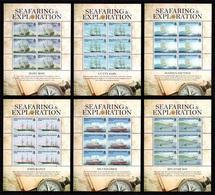TRISTAN DA CUNHA 2009 Seafaring & Exploration: Set Of 6 Sheets UM/MNH - Tristan Da Cunha