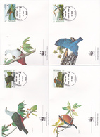 World Wide Fund For Nature 1990 Micronesia,Birds, Set 4 Official First Day Covers - FDC