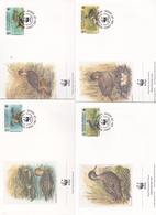 World Wide Fund For Nature 1992 South Georgia,Anas Georgica, Set 4 Official First Day Covers - FDC