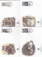 World Wide Fund For Nature 1996 Aland Owl, Set 4 Official First Day Covers - FDC