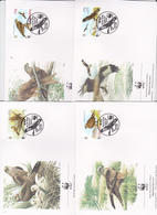 World Wide Fund For Nature 1996 Gibraltar,Red Kite, Set 4 Official First Day Covers - FDC