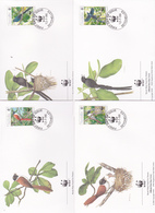 World Wide Fund For Nature 1996 Seychelles, Set 4 Official First Day Covers - FDC