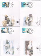 World Wide Fund For Nature 1997 Ross Dependency,Seabirds Set 4 Official First Day Covers - FDC