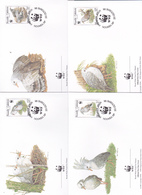 World Wide Fund For Nature 1998 New Caledonia Cagou Set 4 Official First Day Covers - FDC