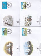 World Wide Fund For Nature 1999 Tristan Da Cunha,Albatros Set 4 Official First Day Covers - FDC