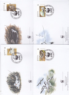 World Wide Fund For Nature 2001 Bermuda,Bird Conservation, Set 4 Official First Day Covers - FDC