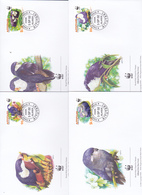 World Wide Fund For Nature 2002 Aiututaki,Blue Lookeet, Set 4 Official First Day Covers - FDC