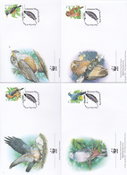 World Wide Fund For Nature 2002 Christmas Island,Birds, Set 4 Official First Day Covers - FDC