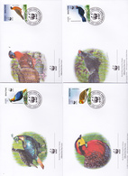 World Wide Fund For Nature 2003 Bhutan,Birds, Set 4 Official First Day Covers - FDC