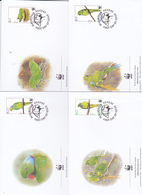 World Wide Fund For Nature 2003 Mauritius,Fledgling, Set 4 Official First Day Covers - FDC